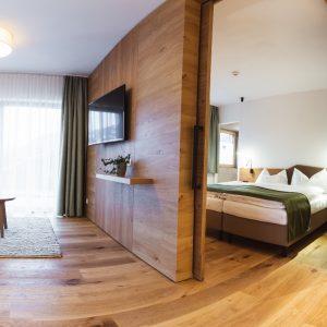 Aparthotel Ursprung - Blick ins Schlafzimmer