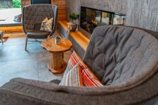 Detailaufnahme Sitzbereich Boutiquehotel Stadtvilla