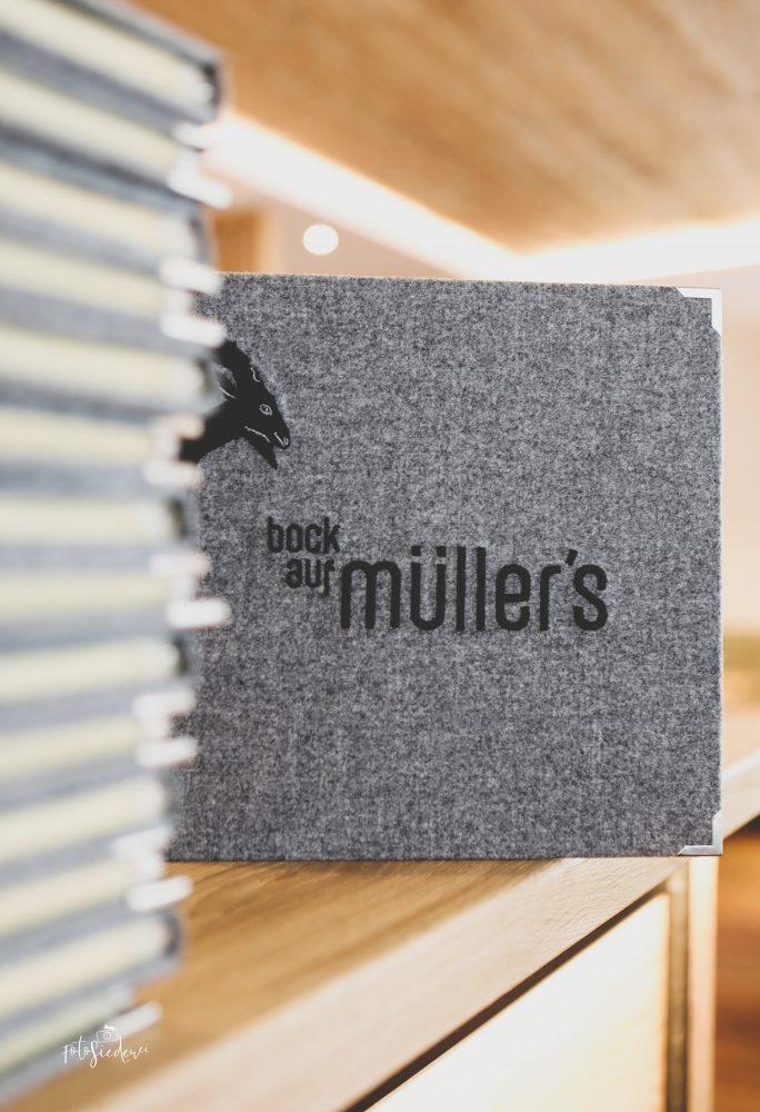 Bock auf Müller's - Speisekarte